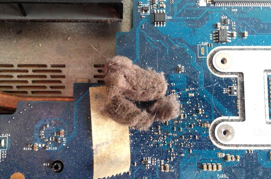 układ chłodzenia zapchany - naprawa laptopa warszawa