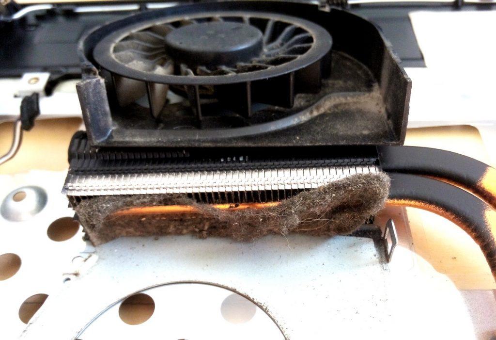 naprawiamy laptopy - układ chłodzenia